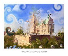 """Art inspired by the King's castle in Copenhagen, Denmark!⠀⠀ ⠀⠀⠀ #indivue #travel #art #Copenhagen…"""