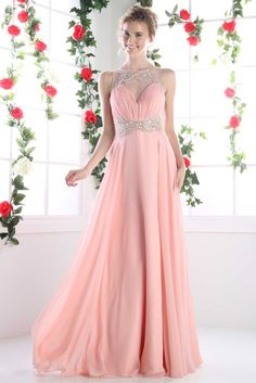 Long Dress with Illusion Sweetheart Neckline CDCK78