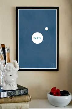 The Planets 11x17 Modern Art Print  Earth and the by TheGeekerie, $18.00