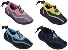 S7919 Childrens Kids 5 Colors Water Shoes Aqua Socks Slip on Toddlers Boys Girls Athletic Pool Beach Surf Sport