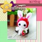 DIY handmade wool felt kit Rabbit