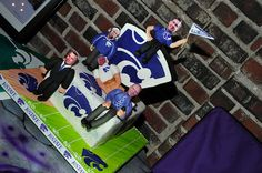 K-state Wildcats Football & Basketball cake  by B Willard, via Flickr