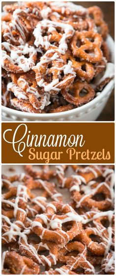 [orginial_title] – michelle Cinnamon sugar pretzels are one of our all time favorite snacks or treats. Adult… Cinnamon sugar pretzels are one of our all time favorite snacks or treats. Adults and kids cannot stay out of the bowl. Trust me! via Sweet Basil Snack Mix Recipes, Yummy Snacks, Baking Recipes, Delicious Desserts, Dessert Recipes, Yummy Food, Simple Snack Recipes, Dessert Bowls, Party Recipes