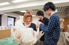 [全日制] ファッションデザイン基礎科 シーチングで制作する「新しいスカートの形」授業に潜入☆