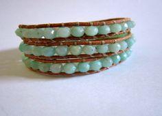 amazonite wrap bracelet...beautiful and summery