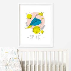 Excited to share the latest addition to my #etsy shop: Nursery Printable, Printable Wall Art, Bird Color Print, Bird With Quote, Bird Download, Toddler Art, Kids Room, Home Decor, Contemporary #art #print #digital #yellow #babyshower #black #decornursery #nurserywallart #kidsroom