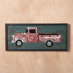 License Plate Truck Wall Art - Farah's Secret World License Plate Crafts, Cool License Plates, License Plate Art, License Plate Ideas, Licence Plates, Vintage Car Bedroom, Metalarte, Design Furniture, Car Furniture