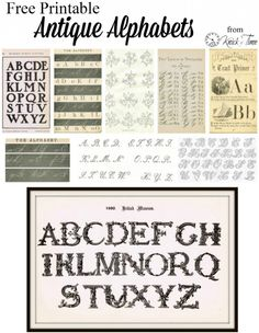 Antique Alphabet Printables from KnickofTime.net