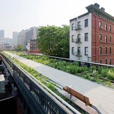 The High Line Section 2, a 1.5 mile-long elevated park on an abandoned railway in New York