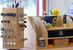 Love My Art Jewelry: Handmade lazy susan tool organizer...and giveaway winner announcement!