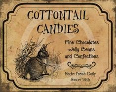 Shop for primitive easter on Etsy, the place to express your creativity through the buying and selling of handmade and vintage goods. Primitive Labels, Country Primitive, Pantry Labels, Chocolate Bunny, Easter Printables, Peter Cottontail, Tea Stains, Feed Sacks, How To Make Pillows