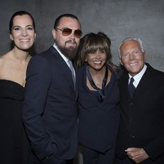 Leonardo Di Caprio and Tina Turner joined Roberta and Giorgio Armani to celebrate 40 years of the brand and the opening of #ArmaniSilos last night. #Atribute #Padgram