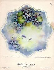 """8"""" Violet Plate #37 by Geraldine Rarick China Painting Study"""