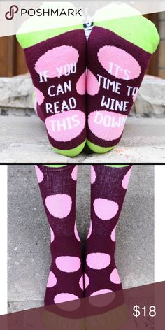 Funny Wine Socks Oliver & Otis Brand New New wine socks by Oliver & Otis, great quality with stitched in designs! Fit women's 6-10 Oliver & Otis Other