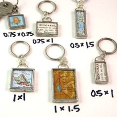 Custom Map Keychain - Choose a map and size $27  I'd probably choose the location of my wedding.