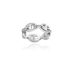 Chaîne d'Ancre Enchaînée   Hermes ring in silver, PM, size 46   Silver 925/1000      Ref. H109507B 00046  $385.00