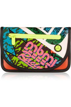 Happy neon Marc by Marc Jacobs, Leather-trimmed coated canvas iPad Mini case. Happily sold out.