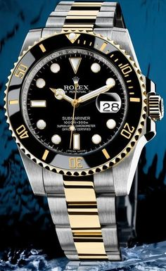 Rolex 2 Tone Submariner Black Ceramic Diamond Dial 116613N