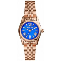 Michael Kors Petite Lexington Blue Dial Rose Goldtone Ladies Watch MK3272 ** You can find out more details at the link of the image.