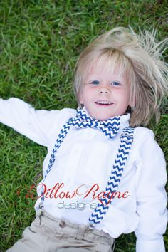 Boys Navy Suspenders and Bow Tie  Navy by WillowRayneDesigns, $32.95