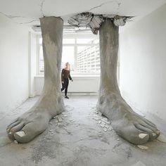 """좋아요 3,067개, 댓글 12개 - Instagram의 Fubiz(@fubiz)님: """"""""Ego Erectus"""" Installation by @mariomankey  #installation #berlin #fubiz #inspiration  Mention…"""""""