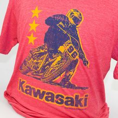 Kawasaki Motorcycle Step Brothers T-Shirt | Vintage-Style Tees | RetroPlanet.com