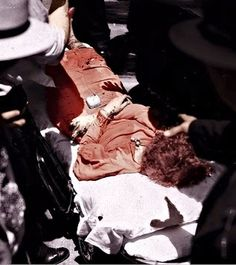 Bonnie Parker's death photo (colorized by Chuck Flynn) (1934)