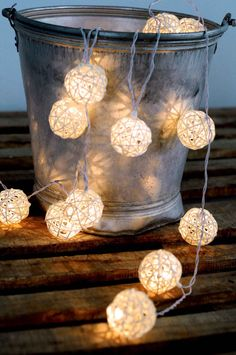 beautiful outdoor lantern string light rattan white color hanging light night decor party wedding bedroom furniture rustic wood on Etsy, $12.99