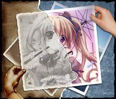 Witch and Angel : Fotomontaggi e disegni