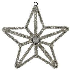 Xmas Decorations Silver Beaded Star Ornament Christmas Ornaments Set Of 2 by ShalinIndia, http://www.amazon.com/dp/B009KZ3GVG/ref=cm_sw_r_pi_dp_B4JGqb1AJW84F