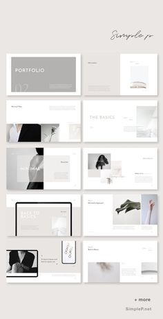 Simple & Basic Presentation Template #ppt #powerpoint Portfolio Design Layouts, Layout Design, Ppt Design, Slide Design, Book Design, Design Posters, Cover Design, Branding Portfolio, Graphic Design Layouts