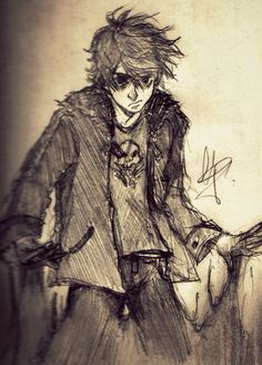 Nico diAngelo. I love how this drawing really shows his strength and determination, but you can definitely see that he is only thirteen. I wish I could draw like this.
