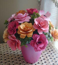 Paper Flower Arrangement Perfect for by SweetPeasPaperFlower, $30.00