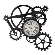 Reloj industrial de metal An. 86 cm ENGRENAGE | Maisons du Monde