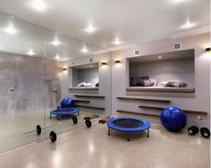 14 best Workout Spaces & Equipment images on Pinterest | Home gyms Home Fitness Room Design La E A on
