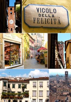 Some of my favorite hangouts. Lucca, Italy