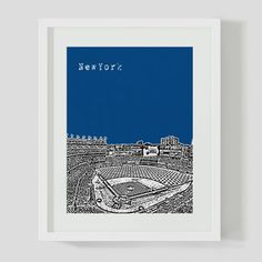 New York Stadium Print II, $15, now featured on Fab.