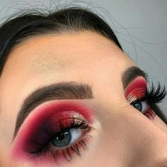 ❤️🌹 this look will be on my channel at Products used & gatsby pigment Pink Eyeshadow Look, Red Eye Makeup, Makeup On Fleek, Kiss Makeup, Glam Makeup, Makeup Inspo, Eyeshadow Makeup, Makeup Inspiration, Beauty Makeup