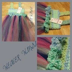 Weaver wings crochet top tutu dress on sale for girls! Weaverwings@gmail.com