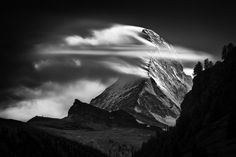 Sunset Clouds #1 (From the Portfolio 'A Portrait of the Matterhorn') by Nenad Saljic