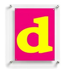 Letter D Poster now featured on Fab.