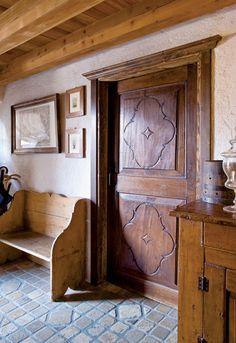 Interior door, Italian Alps Chalet
