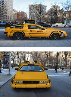 a Delorean Taxi now on the streets of NYC!