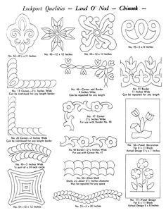 Lockport-Quilting-Patterns-6 pages that could be used for rework