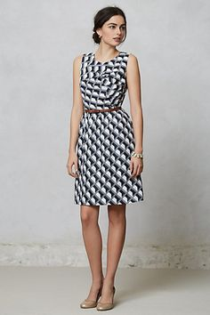 Architectural Shift #anthropologie $79.95  Can't wait til this arrives!  It's such a classic dress for work.  Perfecto!