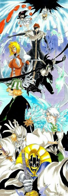 Bleach final battle (in manga) Shinigami, Bleach Fanart, Bleach Manga, Bleach Drawing, Manga Art, Manga Anime, Anime Art, Bleach Characters, Anime Characters