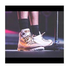 J. Cole wearing #BallyJCole hiker boots @madisonsquaregarden last night. Discover the collection at Bally.com #BallyJCHiker #JColeMSG #foresthillsdrivetour #Regram