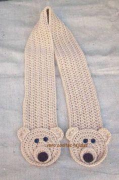 Crochet Kerchief – Crochet: Punto Abanico # 14 - Knitting and Crochet Crochet Kids Scarf, Crochet Poncho Patterns, Crochet For Boys, Crochet Shoes, Cute Crochet, Crochet Scarves, Crochet Stitches, Knit Crochet, Double Crochet