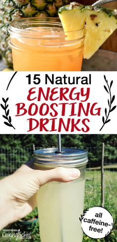 What if we give up the fleeting, artificial energy from coffee and energy drinks and choose REAL energy instead? A life without caffeine doesn't mean a life without energy! How about some naturally energizing, caffeine-free drinks that won't wreck your he Natural Energy Drinks, Healthy Drinks For Energy, Keto Energy Drink, Boost Energy Drink, Coconut Oil Weight Loss, Energy Smoothies, Natural Detox, Spirulina, Caffeine