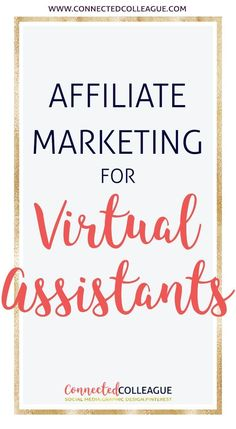 Learn how to you can use Affiliate Marketing alongside your Virtual Assistant business to create passive income.  As a Virtual Assistant this Affiliate Marketing Course has been a game changer for me and I couldn't be more proud of being an affiliate!